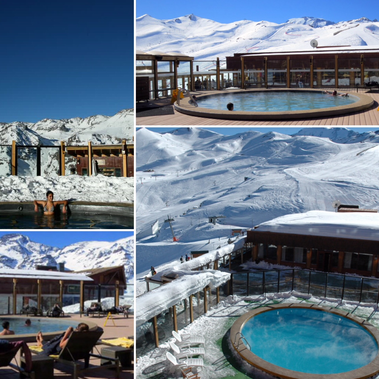 the pool at Valle Nevado